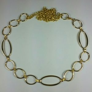 "Shiny gold chain belt adjust 25"" - 49"""